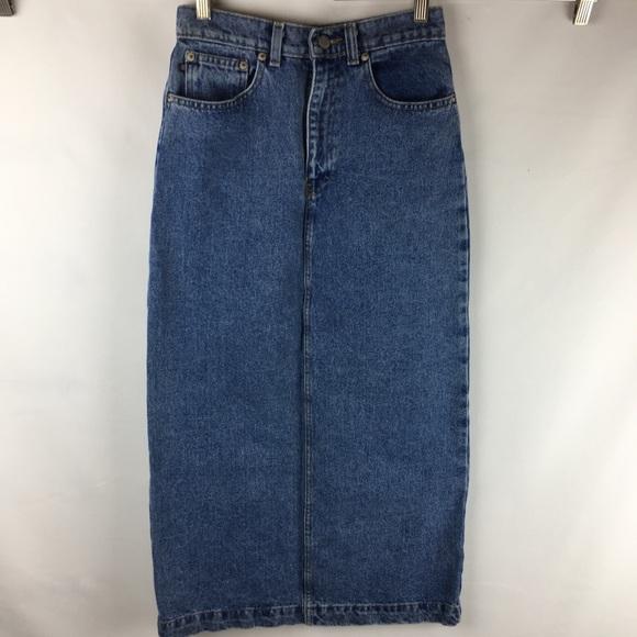 45a40bd51c Ralph Lauren Denim Pencil Skirt Long Modest Size 4.  M 5c5eb86eaaa5b8812df3094a